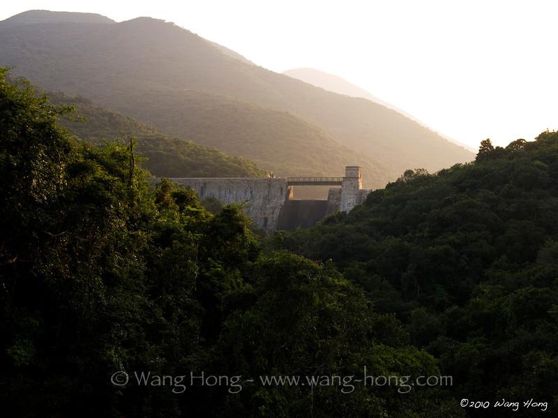 Tai Tam Intermediate Reservoir Dam in Tai Tam Country Park, south of Hong Kong Island
