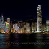Central HK at night from TST, early August 2011