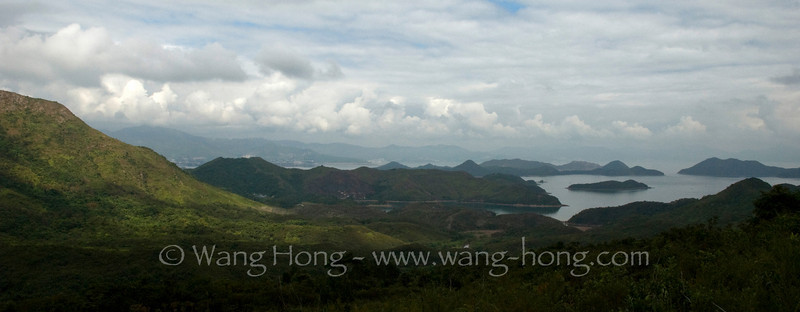 Hong Kong is not just a crowded city and concrete forest. It's easy to get into the green nature for a full day's hike. Photo was taken from the Plover Cover Country Park.