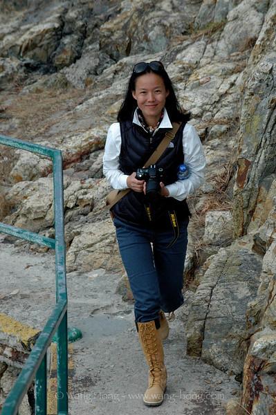 The photographer at Big Wave Bay in Hong Kong (2009).