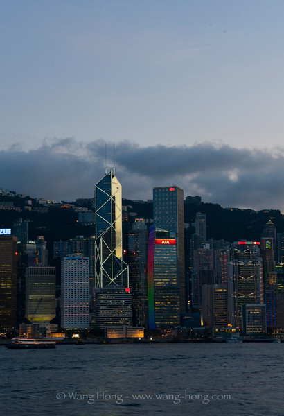 Central HK early evening from TST, early August 2011