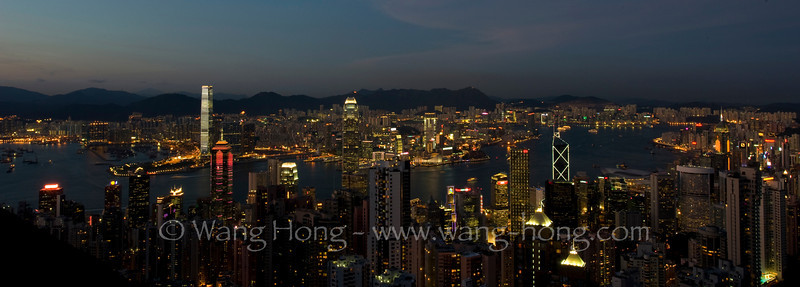 Victoria Harbour classic night view, early August 2011