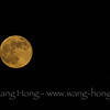 Golden full moon on the day after the mid-autumn festival, 2014.