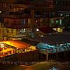 Waterfront of Yung Shue Wan Village of Lamma Island at night.