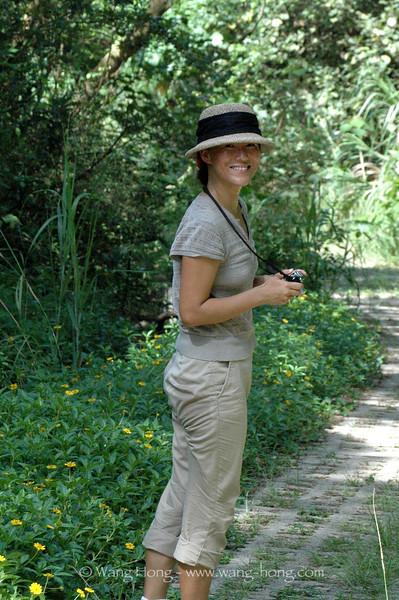 The photographer on a back trail, Lamma Island.