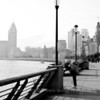 Morning exercise on the Bund in an autumn morning, 2012