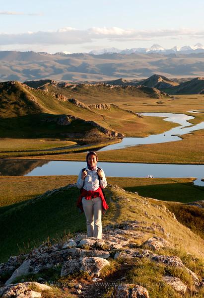 The photographer in Bayanbulak. (2012)