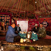 Kazak family at breakfast table
