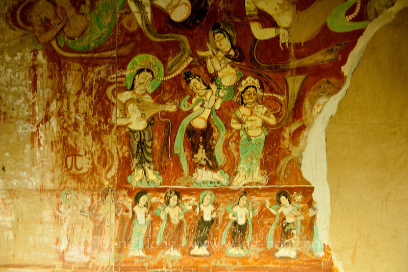 Reconstructed cave at the Dunhuang Museum at Dunhuang Mogao Caves.