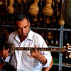 At a musical instrument shop in Kashgar