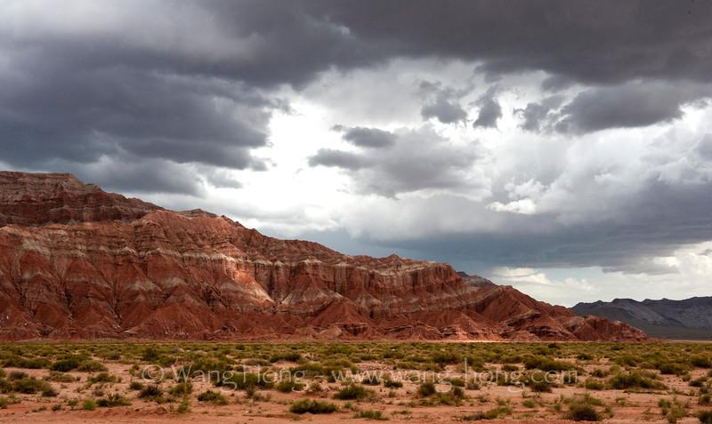 Canyon landscape at Wensu near Aksu, Xinjiang