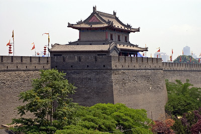 Xi An city walls-City Wall-Shaanxi-Xi'An-China