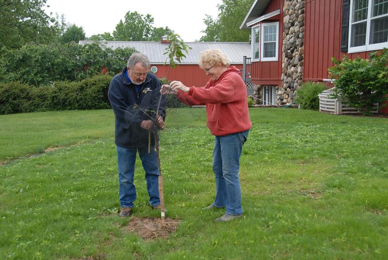Jay and Barb on their farm