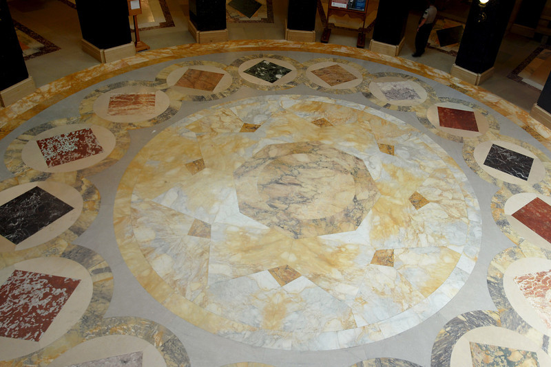 The floor of the capitol building....all different marbles.