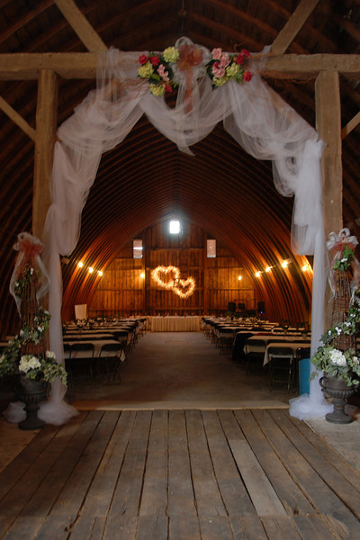 The barn where Chrit and Amy's reception was held, at Amy's home.