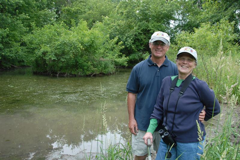 Janet and Don at their very special pond.