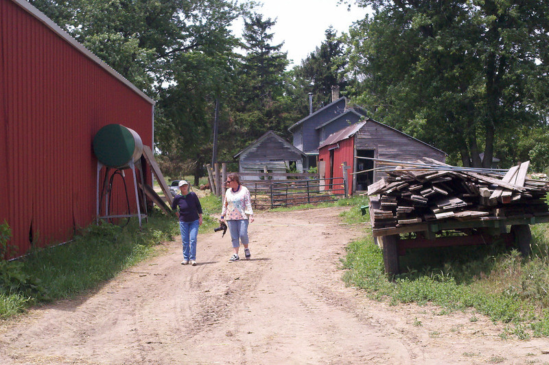 Janet and me at the farm.