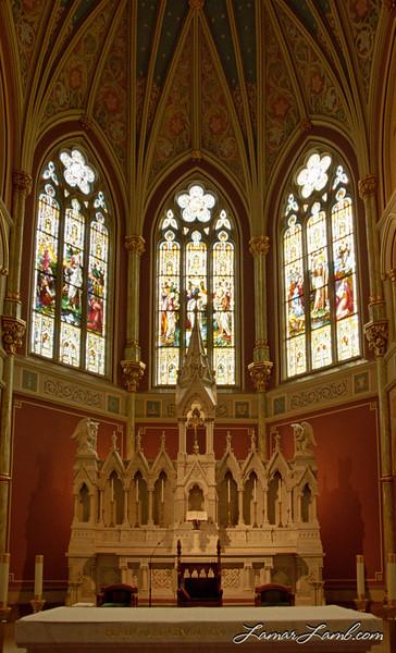 "Cathedral of St. John the Baptist. Savannah, Georgia. <a href=""http://www4.ncsu.edu/unity/users/j/jnwall/html/NikonF4FAQVersion6.0.htm"" target=""_blank"" >Nikon F4s</a> / Kodak Gold 200"