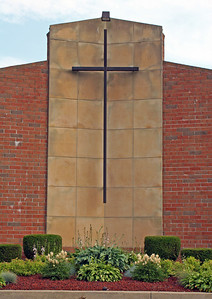 Cross on Church Wall, Tallmadge, ohio