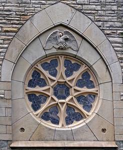 Stained Glass Window in Civil War Chapel, Glendale Cemetery, Akron, Ohio