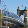 It spans the Ohio River between Covington KY and Cincinnati OH