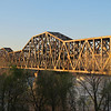 """This railroad bridge is in the view from my hotel room.  I have a """"riverview room""""."""