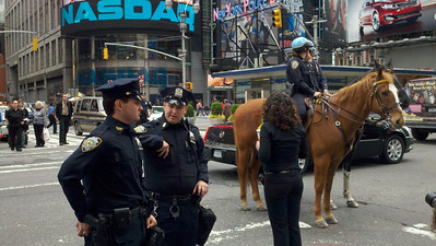 NYPD Mounted police in Times Square
