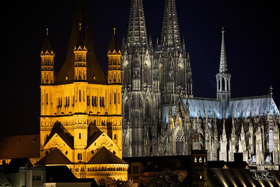 Groß St. Martin Church & Cologne Cathedral