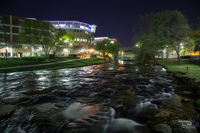 Reedy River at night