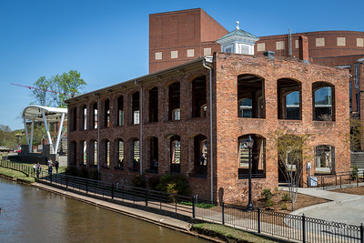 Old warehouse next to Reedy River