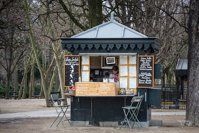 Crépe stand, Jardin du Luxembourg