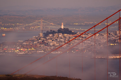 Golden Gate Bridge and San Francisco from Conzelman Road