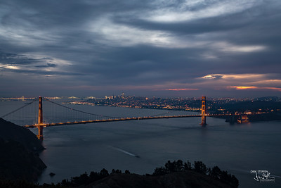 Golden Gate Bridge and San Francisco from Hawk Hill