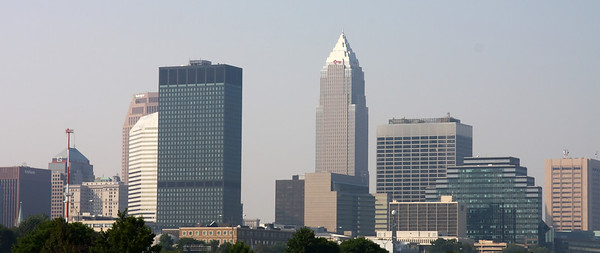 Skyline view of downtown Cleveland, Ohio