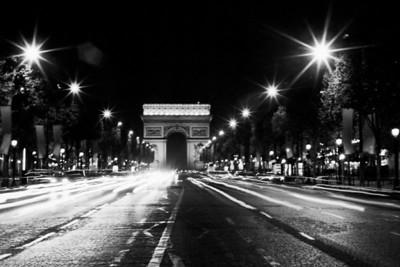 The Arc de Triomphe at Champs-Elysées Avenue (Arc de Triomphe de l'Étoile et Avenue des Champs-Elysées) Paris, France October 1999