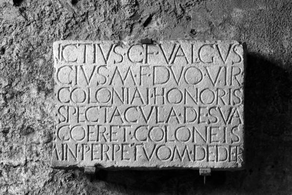 Latin Inscription Pompeii, Italia June 2011