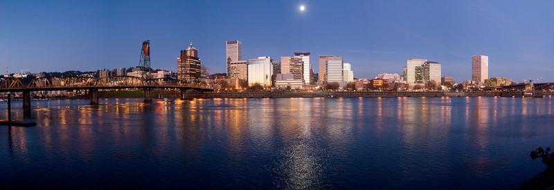 Portland Oregon Morning Skyline