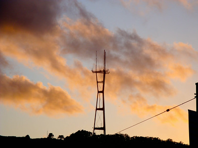 Sunset over Sutro