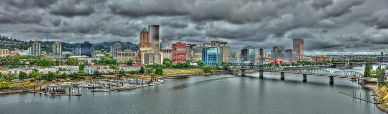 Portland, Oregon viewed from the Marquam bridge