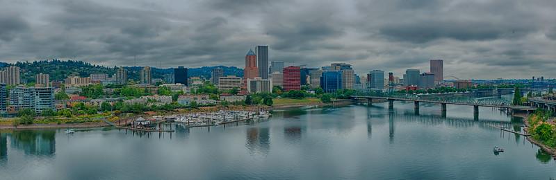 Portland, Oregon - As seen from the Marquam bridge