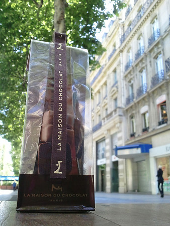Chocolates on Champs Elysee Avenue (Chocolat dans Avenue des Champs-Elysées) Paris, France May 2011