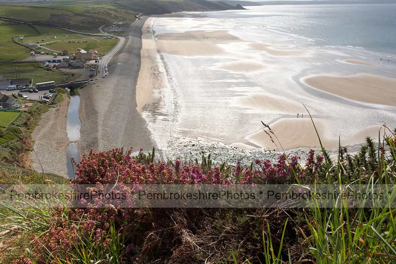 Looking down on Newgale Beach