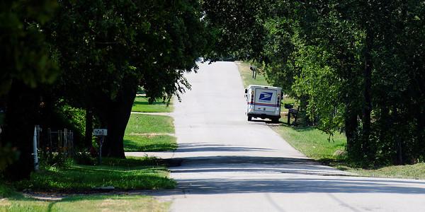 A rural road.