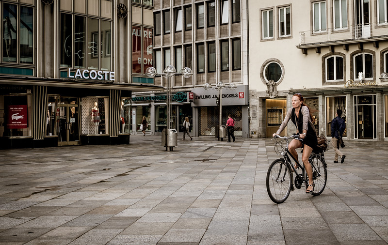 Bicycle rider in Cologne
