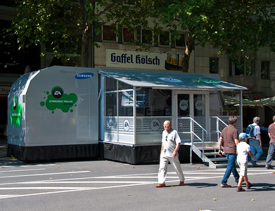 EA booth at Rudolphplatz in Cologne