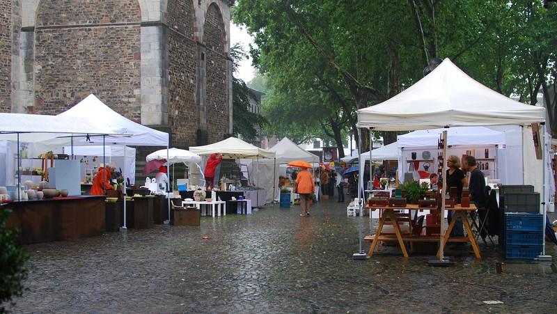 Cologne under rain