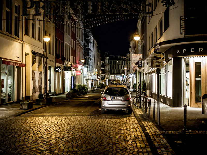 Night street in Cologne