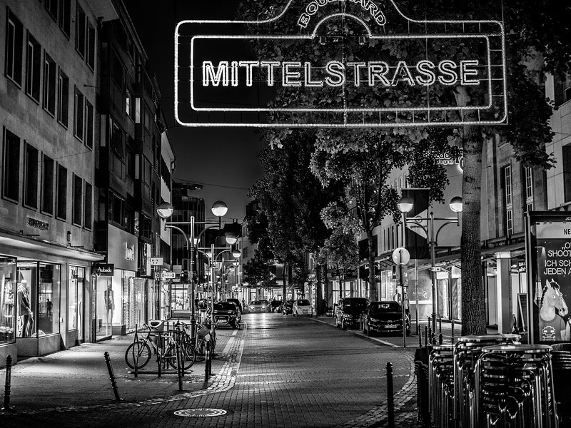 Cologne street at night