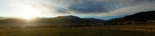 Panorama of Sunrise in Ridgway - 032915 - 730AM