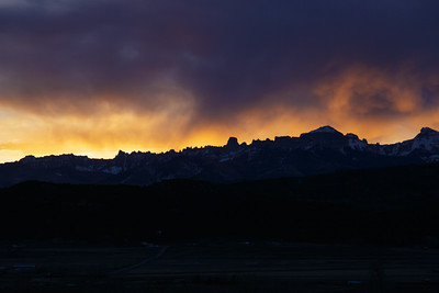 Sunrise over Ridgway - 033015  - 701AM